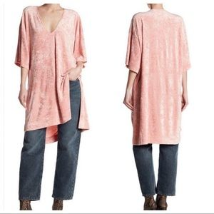 Free People The Luxe velvet tunic Passion flower